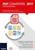 PDF Converter Professional 2017 - PDFs umwandeln und in Office, als EPUB, HTML oder als Text verwenden