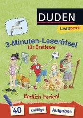3-Minuten-Leserätsel für Erstleser: Endlich Ferien!