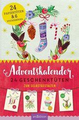 Adventskalender. 24 Geschenktüten zum Selbstgestalten