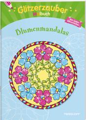 Glitzerzauber Malbuch Blumenmandalas