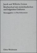 Briefwechsel mit niederländischen und belgischen Gelehrten