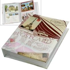 Post- und Ansichtskartenalbum Retro-Design, für bis zu 200 Karten