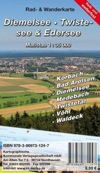 KKV Rad- und Wanderkarte Diemelsee, Twistesee, Edersee