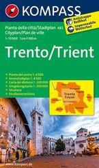 Kompass Stadtplan Trento /Trient
