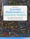 Essential Mathematics for Economic Analysis Plus MyMathLab
