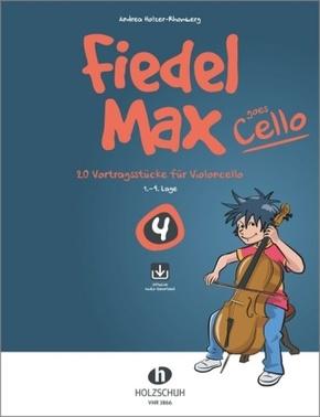 Fiedel-Max goes Cello 4 (mit CD) - Vol.4