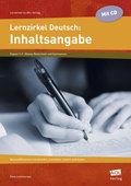 Lernzirkel Deutsch: Inhaltsangabe, m. CD-ROM