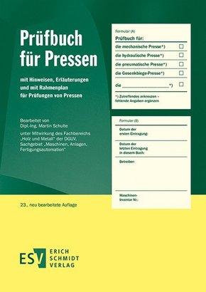 Prüfbuch für Pressen
