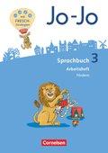 Jo-Jo Sprachbuch, Allgemeine Ausgabe 2016: 3. Schuljahr, Arbeitsheft Fördern und Inklusion