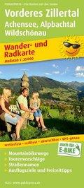 PublicPress Wander- und Radkarte Vorderes Zillertal, Achensee, Alpbachtal, Wildschönau