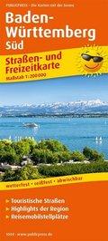 PublicPress Straßen- und Freizeitkarte Baden-Württemberg-Süd