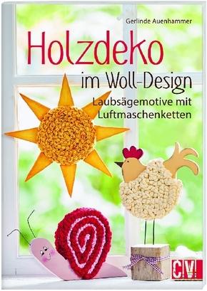Holzdeko im Woll-Design