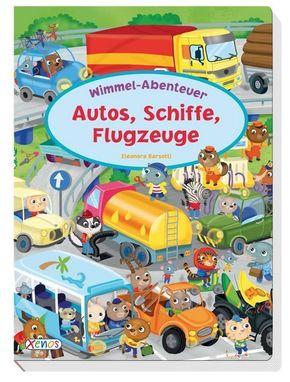 Autos, Schiffe, Flugzeuge - Wimmel-Abenteuer, Wimmelbuch