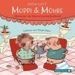 Moppi und Möhre - Abenteuer im Meerschweinchenhotel, 1 Audio-CD