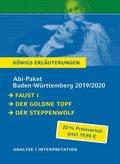 Abi-Paket Baden-Württemberg 2019/2020: Faust I, Der goldne Topf, Der Steppenwolf, 3 Bde.