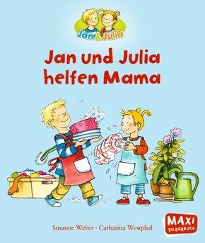 Jan und Julia helfen Mama - Maxi Bilderbuch