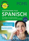 PONS Audiotraining Plus Spanisch, 4 Audio-MP3-CDs