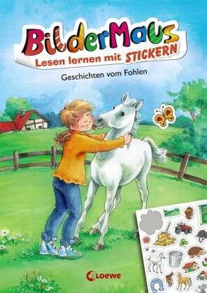 Bildermaus - Lesen lernen mit Stickern - Geschichten vom Fohlen