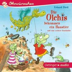 Die Olchis bekommen ein Haustier und eine weitere Geschichte, 1 Audio-CD
