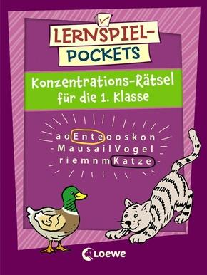 Lernspiel-Pockets - Konzentrations-Rätsel für die 1. Klasse