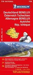 Michelin Karte Deutschland, Benelux, Österreich, Tschechien; Allemagne, Benelux, Autriche, Österreich, Rép. Tchèque
