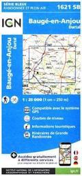 IGN Karte, Serie Bleue Baugé-en-Anjou. Durtal