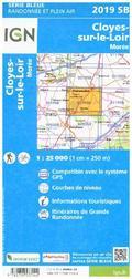 IGN Karte, Serie Bleue Cloyes-sur-le-Loir. Moree