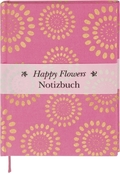 Happy Flowers Notizbuch groß - pink (Blanko)