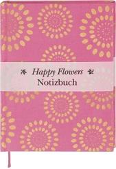 Happy Flowers Notizbuch groß - pink (Blanko)