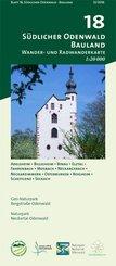 Odenwald Freizeitkarte Südlicher Odenwald - Bauland
