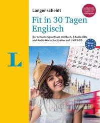 Langenscheidt Fit in 30 Tagen - Englisch - Buch, 2 Audio-CDs, Audio-Wortschatztrainer auf MP3-CD