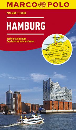 MARCO POLO City Map Hamburg 1:16.000; Hambourg
