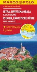 MARCO POLO Karte Istrien, Kroatische Küste Nord und Mitte 1:200 000; Istrie, Cote Croate, Nord et Centre / Istra, Hrvats