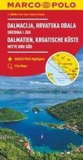 MARCO POLO Karte HR Dalmatien, Kroatische Küste 1: 200 000; Dalmacija, Hrvatska Obala / Dalmatia, Croatian Coastline Cen
