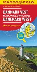 MARCO POLO Karte Dänemark West 1:200 000; Danmark Vest / Denmark West / Danemark Ouest