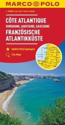 MARCO POLO Karte Frankreich Französische Atlantikküste 1:300 000; French Atlantic Coast; Cote Atlantique