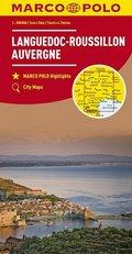 MARCO POLO Karte Frankreich Languedoc-Roussillon, Auvergne 1:300 000