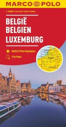 MARCO POLO Karte Belgien, Luxemburg 1:200 000; Belgium, Luxembourg; Belgie, Luxemburg; Belgique, Luxembourg