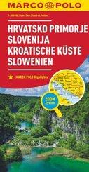 MARCO POLO Karte Kroatische Küste, Slowenien 1:300 000