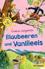 Blaubeeren und Vanilleeis