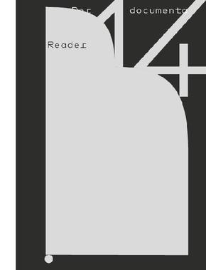 documenta 14 Athens & Kassel 2017 Reader, deutsche Ausgabe