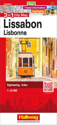 3 in 1 City Map Lissabon / Lisbonne