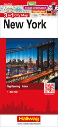 3 in 1 City Map New York