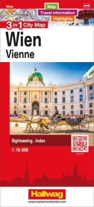 3 in 1 City Map Wien / Vienne