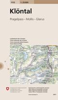 Landeskarte der Schweiz Klöntal