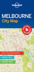 Lonely Planet Melbourne City Map; Volume II