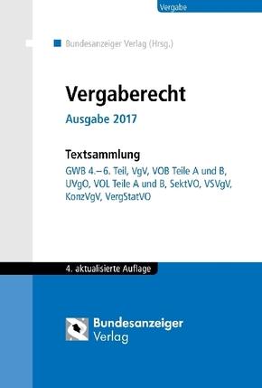 Vergaberecht, Ausgabe 2017