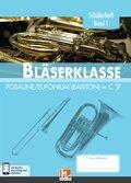 Leitfaden Bläserklasse: 5. Klasse, Schülerheft - Posaune / Eufonium (Bariton) - Bd.1