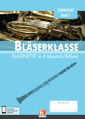 Leitfaden Bläserklasse: 5. Klasse, Schülerheft - Klarinette - Bd.1