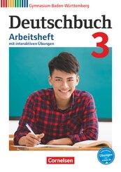Deutschbuch, Gymnasium Baden-Württemberg (Bildungsplan 2016): 7. Schuljahr, Arbeitsheft mit interaktiven Übungen; 3